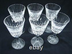 Set 6 Waterford Lismore Small Wine Crystal Stemware Glasses Goblet White/Red