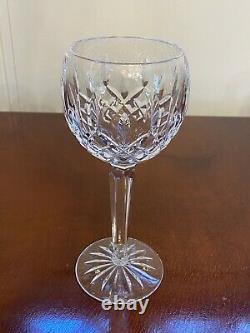 Set 8 Vintage WATERFORD CRYSTAL Lismore Tall Wine Glasses Hocks Goblets IRELAND