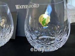 Set Of 2 Waterford Lismore Nouveau Stemless Red Wine Glasses Nib 136878