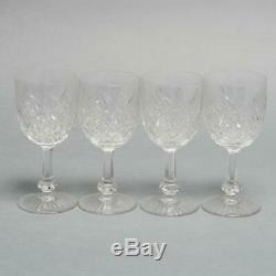 Set Of 4 Baccarat Colbert Clear Cut Crystal Wine Glasses 6