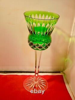 Set Of 6 Ajka Cut To Clear Wine Glasses, 8 1/2 Tall