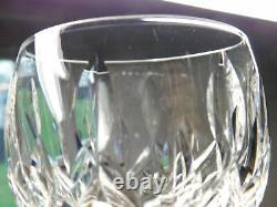 Set Of 6 Stamped Waterford Crystal Lismore 7 3/8 Hock Wine Glasses