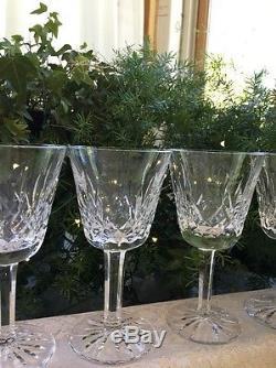 Set Of 6 Waterford Crystal Wine Glass Lismore Claret 5 7/8 Vintage Irish