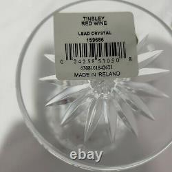 Set Of Four 6oz Waterford Crystal Tinsley Red Wine Glasses Mint in Box 159686