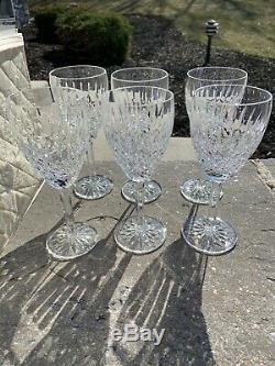 Set of 11 Waterford Crystal Castlemaine Pattern Water/Wine 8ozs Goblet 7 1/4