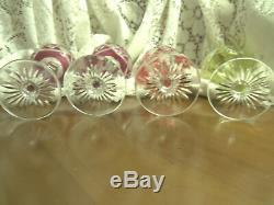 Set of 12 Val St Lambert Berncastel Cut to Clear Crystal Wine Hocks