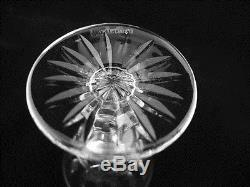 Set of 12 Waterford Crystal TRAMORE Claret Wine Glasses Ireland Excellent 5 1/4