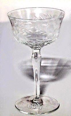 Set of 14 American Victorian Crystal Wine Glasses