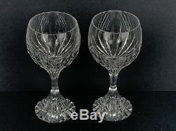 Set of 2 Baccarat France Crystal Massena #3 Claret 6.5 Wine Glasses Mint Stamp