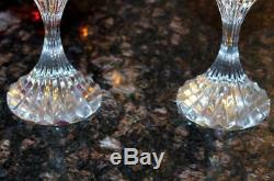Set of 2 Baccarat France Crystal Massena 6 3/8 White Wine Glasses Signed Mint