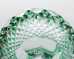 Set of 2 Signed Waterford Crystal Clarendon Emerald Wine Hock Glasses 8