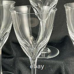 Set of 4 Baccarat Crystal Zurich Claret Wine Glasses EXCELLENT