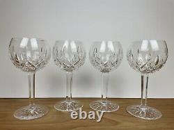 Set of 4 Waterford Lismore Balloon 12 oz Wine Glasses 7