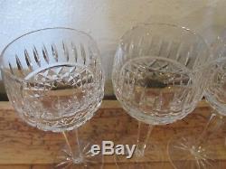 Set of 4 Waterford Tramore Wine Hock Goblet Glasses Elegant Crystal 7 1/4