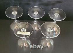 Set of 5 Baccarat Crystal Perfection Retired Elegant Water / Wine Glasses 6-5/8