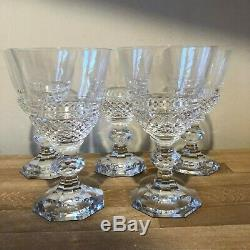 Set of 5 Val St Lambert Josephine Charlotte Large Water or Red Wine Goblets