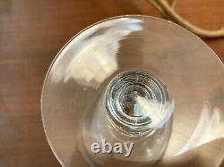Set of 6 Baccarat France VENCE PROVENCE Crystal Wine glasses 5 5/8 Tall