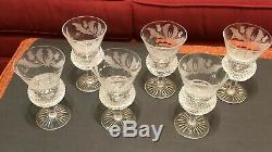 Set of 6 Edinburgh Crystal Thistle Pattern Wine Glasses, Excellent Condition