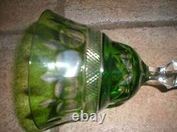 Set of 6 Nachtmann Vintage Wine Glasses Colored Crystal Roemer Hock Glasses