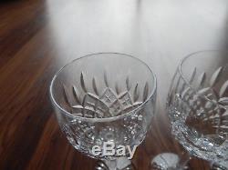 Set of 6 Stuart Crystal Shaftesbury Wine Glasses All Signed 6 7/8 Tall
