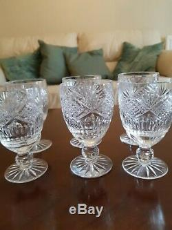 Set of 6 Tyrone Crystal Slieve Donard wine glasses. No box
