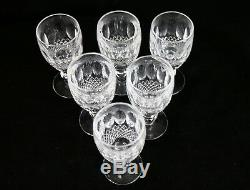 Set of 6 Waterford Crystal COLLEEN Sherry Wine Goblets Glasses 4.25 4 1/4