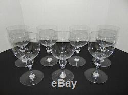Set of 7 Vintage BACCARAT FRANCE Crystal Wine Tall Stemware Glasses 6.5 H