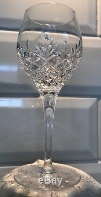 Set of 8 Edinburgh Crystal White Wine Glasses Vienna Range