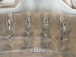 Set of 8 Waterford Crystal Lismore White Wine Glasses