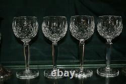 Set of Four (4) Waterford Lismore Wine Hocks Made In Ireland