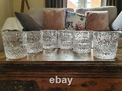 Set of New Boxed Stuart Crystal BEACONSFIELD 12oz Whiskey Tumbler 3-1/4 Tall