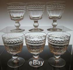 Set of Six (6) Stuart Crystal ARUNDEL Wine Glasses 4 3/16 (108mm) Signed