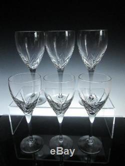 Set of Six Edinburgh Crystal SKYE Wine Glasses 20cms (7-7/8) Tall (signed)