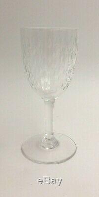 Seven (7) Baccarat PARIS Pattern Cut Glass Crystal 5 3/4 Claret Wine Goblets