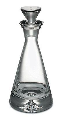 Silver And Cut Glass Spirit Decanter / Wine Carafe (new) Whisky / Port / Brandy