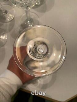 St Louis Crystal France Bristol Burgundy Wine Glasses Lot Of 6 7