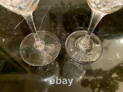 St Louis Crystal France Chantilly Burgundy Wine Glass Set of 9