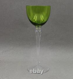 St Louis Crystal Grand Lieu Chartreuse Hock Wine 9 1/8 Sold Individually