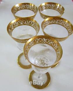 St. Louis (Saint Louis) Crystal Thistle Design Liqueur Glass 5 available