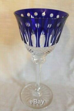 St. Louis Saint Louis Paris Crystal Tommy Hock Wine Glass Cobalt Blue Color