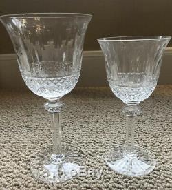 St. Louis Tommy Crystal Water Goblet/Burgundy Wine Goblet Set Of 2 -EUC