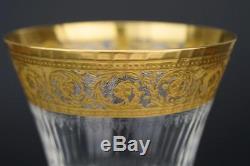 St SAINT LOUIS CRYSTAL Gold THISTLE Burgundy Wine Glass 16.25 cm (1 of 12)