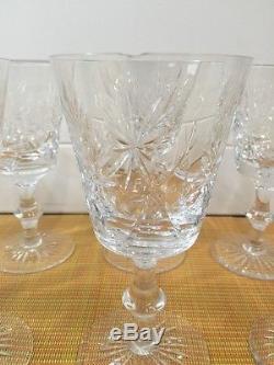 Star Of Edinburgh Scotland Scottish Crystal Wine Glass Goblets 6 Set of 8