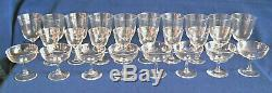 Steuben Crystal Glasses Service for 8 10 Water, 8 Champagne, 8 Wine, 8 Cordial