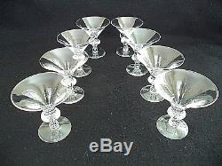Steuben crystal 8 wine champagne sherbet stems teardrop no. 7737 ship free