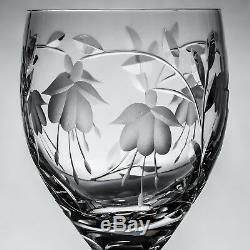 Stuart Crystal Cascade Fuchsia 8 Wine Glasses h 19 cm Signed 1sts Made England