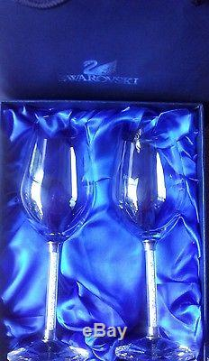 Swarovski Crystal Crystalline Stem Wine Glasses. New In Box. Free Shipping