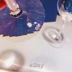 Swarovski Crystal Wine Set Bottle 2 Glass