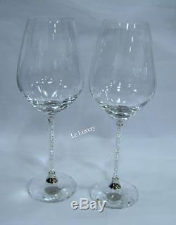 Swarovski Crystalline Red Wine Glasses Set Of 2, Party Wedding Crystal 1095948