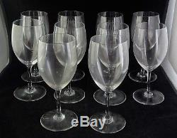 Ten Baccarat French Crystal Wine Glasses Haut Brion or Perfection 6 Ounce 6